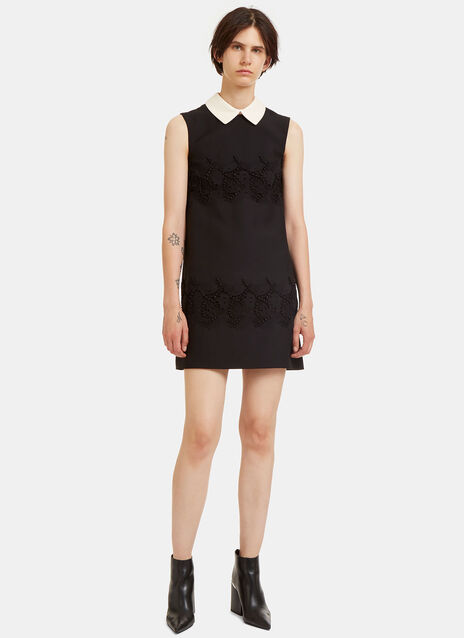 Heavy Embroidered Lace Mini Dress