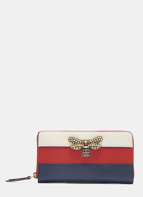 Queen Margaret Bee Motif Tricolor Wallet