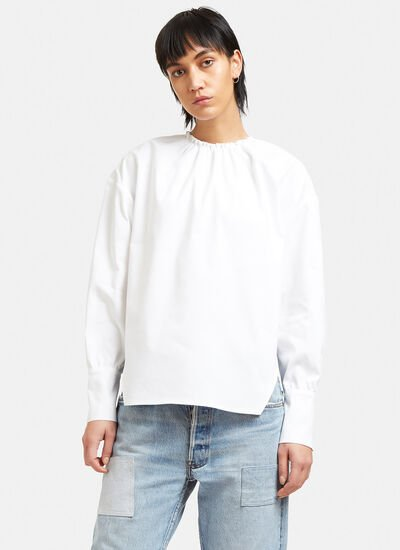 Ruched Collar Blouse