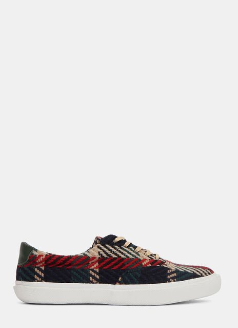 Woven Chevron Low-Top Sneakers