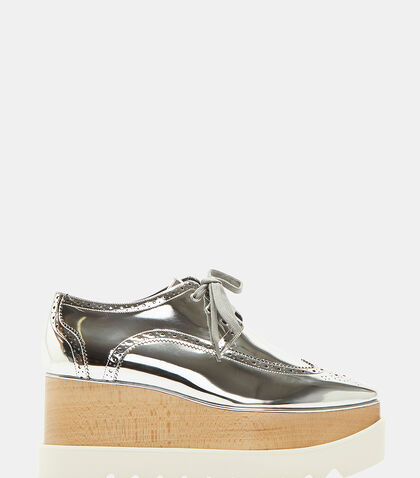 Elyse Metallic Brogue Platform Shoes