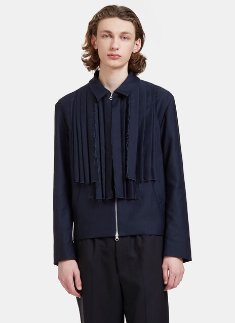 Mickey Raw Folded Pleat Jacket