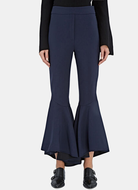 Ellery Sinuous Cropped Flare Pants