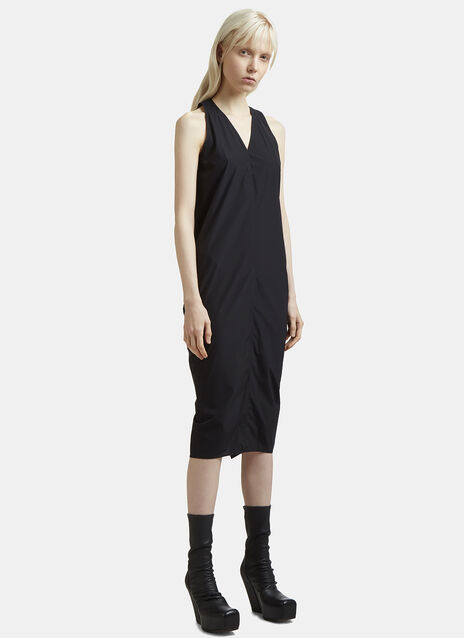 Rick Owens V-Neck Swaddle Back Tank Dress