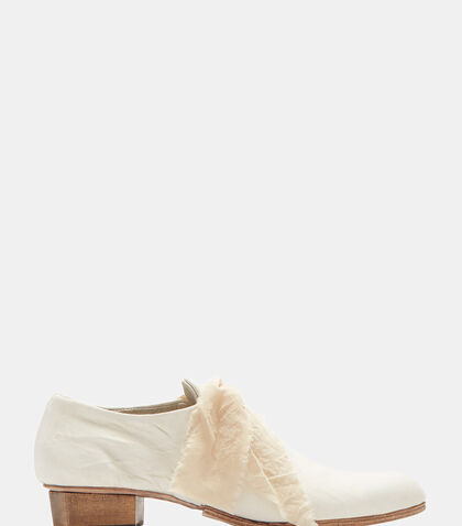Parchment Creased Leather Shoes