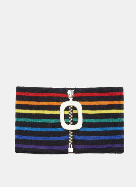 JW Anderson Striped Zipped Neckband