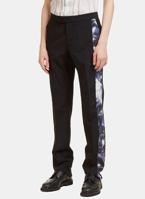 Creased Tie Dye Seam Straight Leg Pants