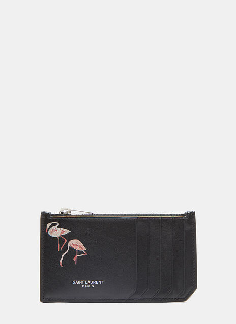 Paris 5 Fragments Flamingo Zip Wallet