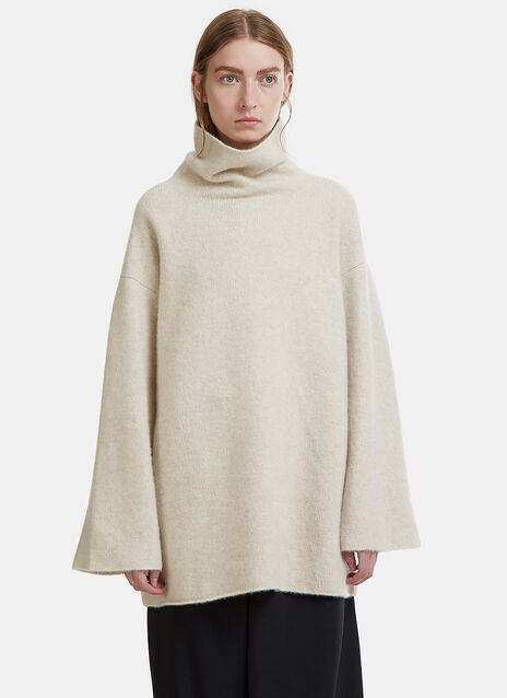 Oversized Funnel Neck Knit Sweater
