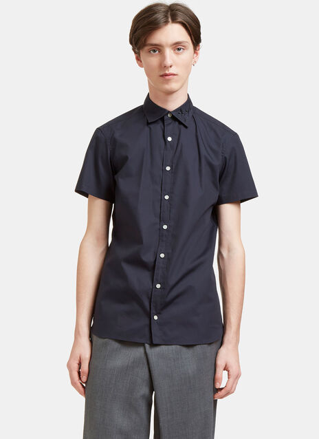 Embroidered Short Sleeved Poplin Shirt