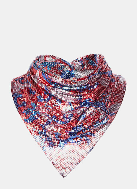 Patterned Chainmail Neck Scarf