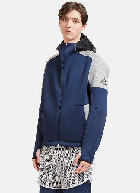 Z.N.E Panelled Neoprene Hooded Sweater