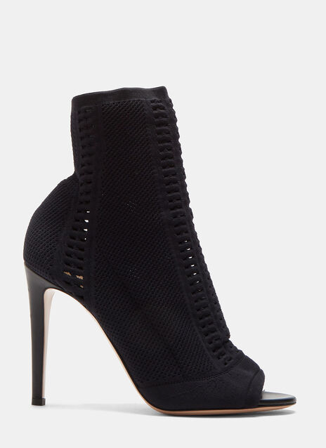 Vires Heeled Knit Ankle Boots