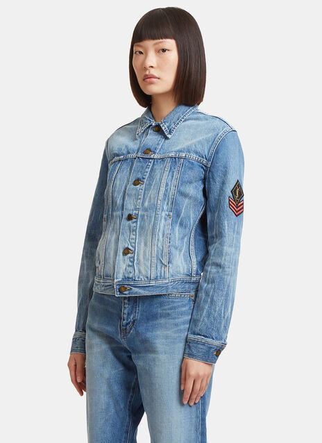 Original YSL Military Patch Denim Jacket