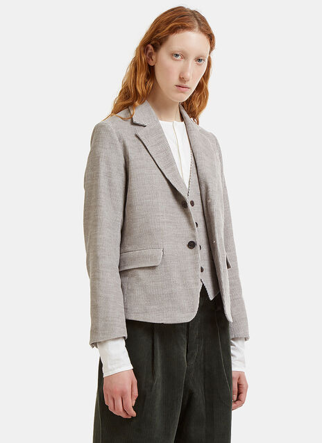 Jacques Double-Layered Corduroy Blazer Jacket
