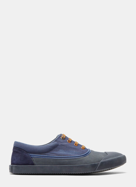 Stone-Washed Canvas Oxford Sneakers