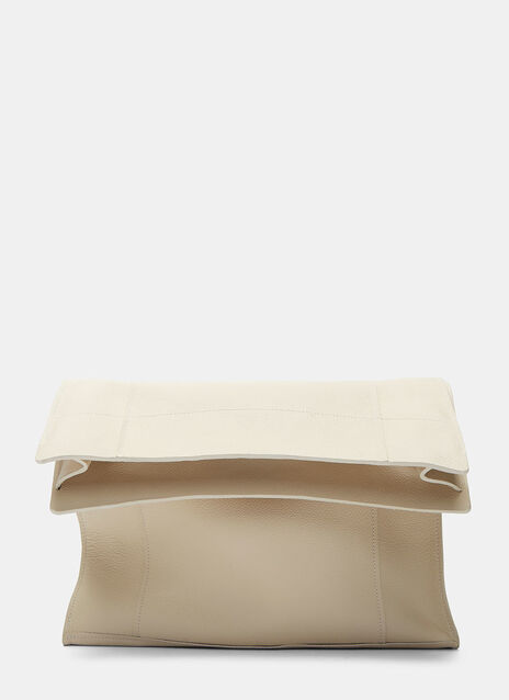 Lunch Leather Clutch Bag