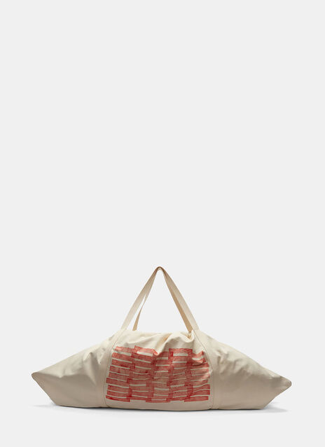 Oversized Printed Canvas Bag