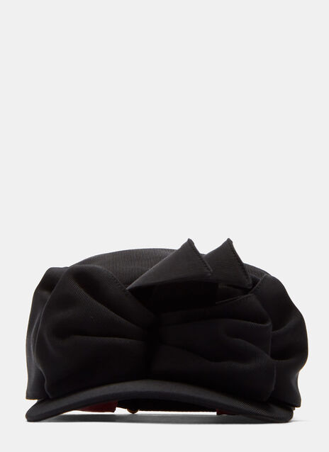 Clara Ruffled Double Bow Flat Cap