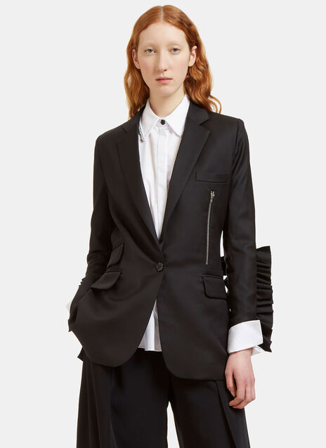Levi Frilled Sleeve Blazer Jacket