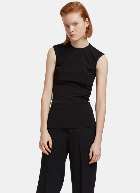 Dovima Sleeveless Crepe Top