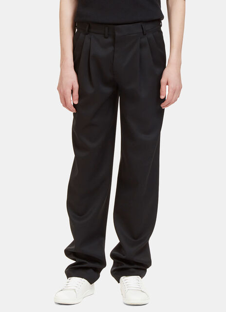 Triple Tuck Pleat Tailored Pants