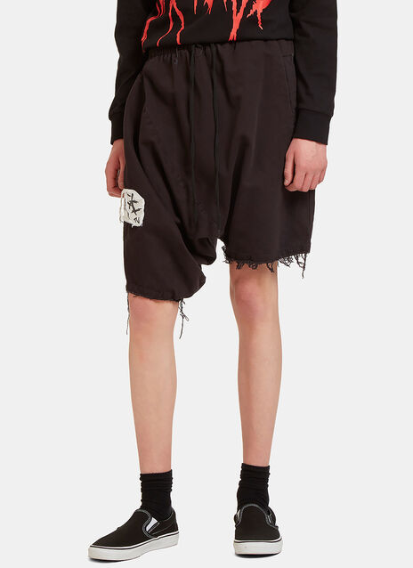 GTV Mosh Asymmetric Dropped Shorts
