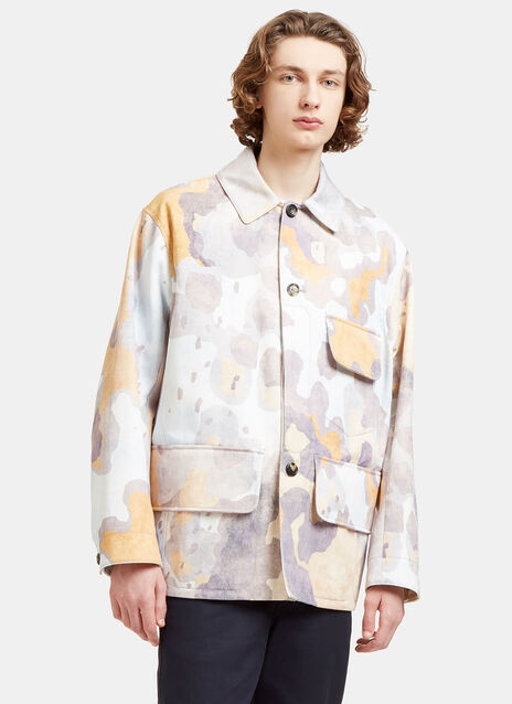 Mirror Oversized Faded Print Jacket
