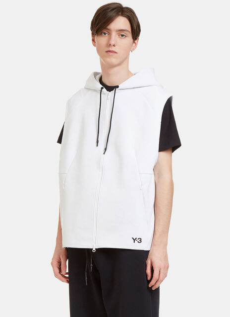 Sport Z Oversized Zip-Up Hooded Sleeveless Sweater