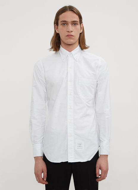 Striped Placket Classic Oxford Shirt