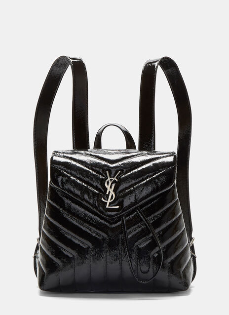 Small Lou Monogram Matelassé Patent Backpack