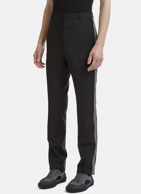 Lanvin Jacquard Side Pleat Tailored Pants