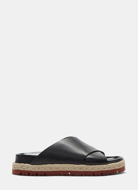 Marni Fussbett Cross Over Ribbon Laced Sandals