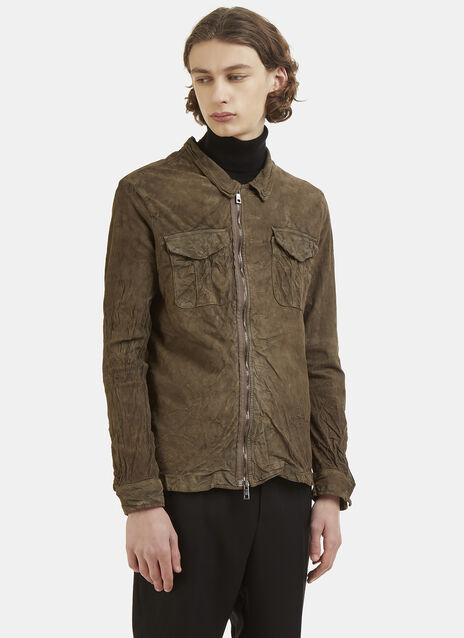 Zipped Leather Shirt
