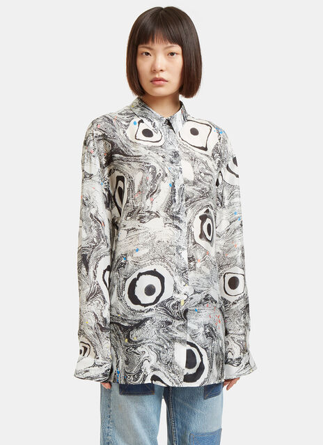 Bella Marbled Eyeball Print Shirt