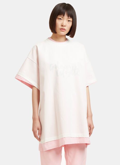 Hanes Galeries Lafayette Oversized Double T-Shirt