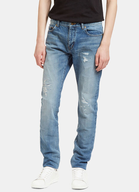 Destroyed Patch Skinny Jeans