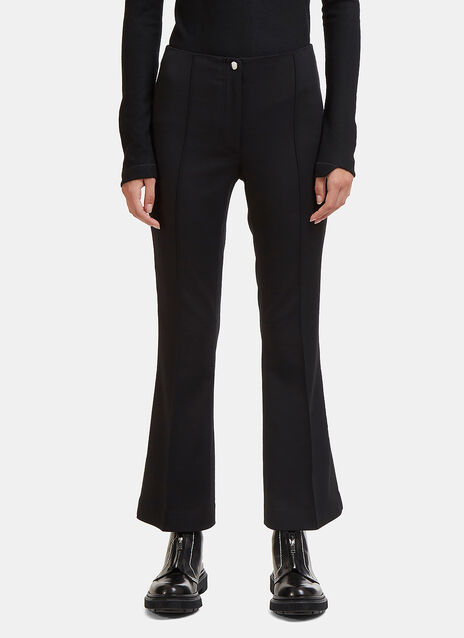 Helmut Lang Cropped Flared Pants