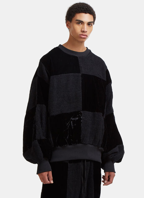 Check Me Out Contrast Patchwork Sweater