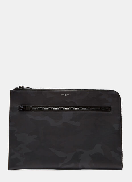 Zipped Leather Camouflage Rider Organiser Pouch