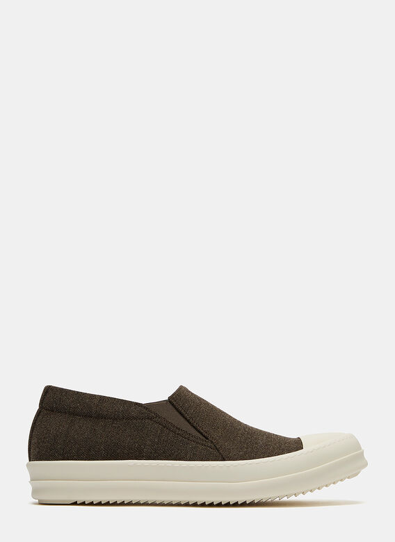 Rick Owens Drkshdw Boat Canvas Slip-On Sneakers