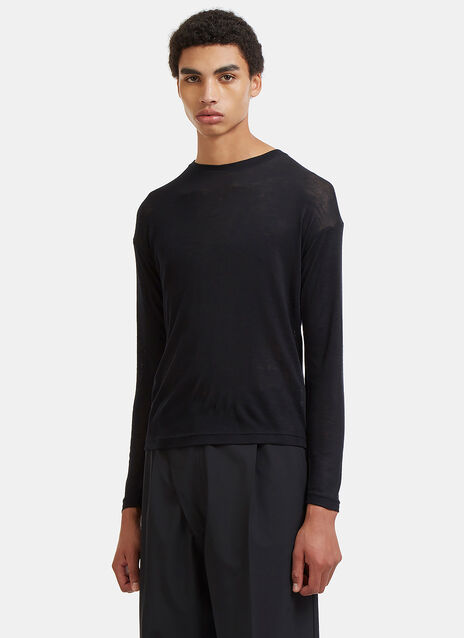 Crew Neck Long Sleeved T-Shirt