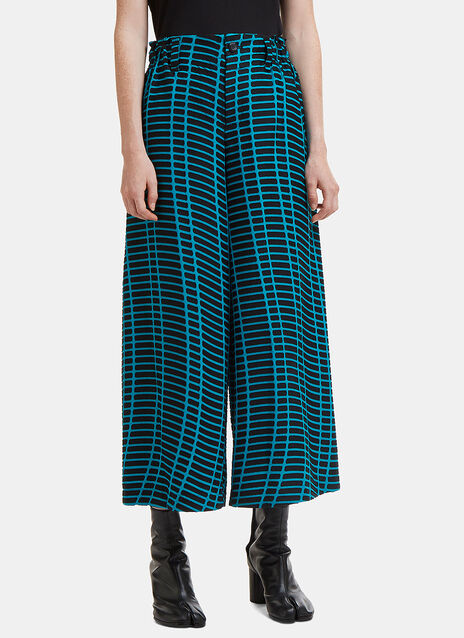 Skew Cropped Wide Leg Pants