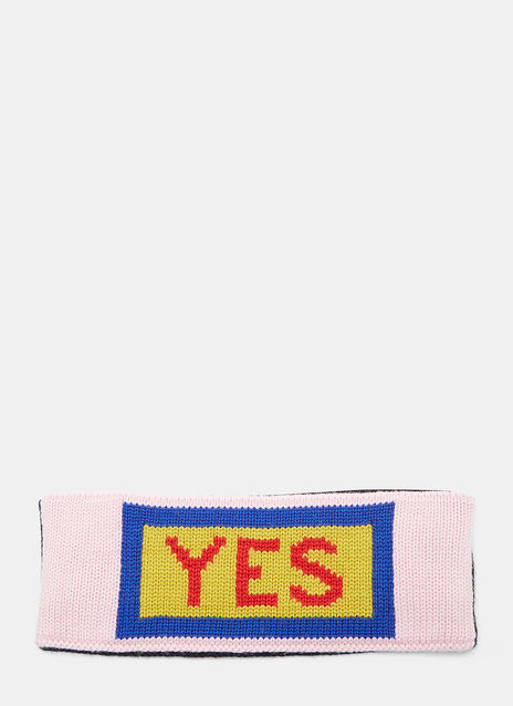 Yes Logo Intarsia Knit Headband