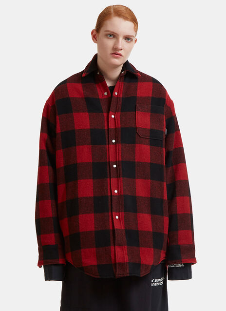 Oversized Checked Flannel Shirt