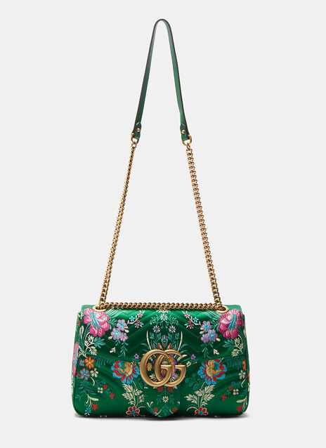 GG Marmont Medium Floral Jacquard Shoulder Bag