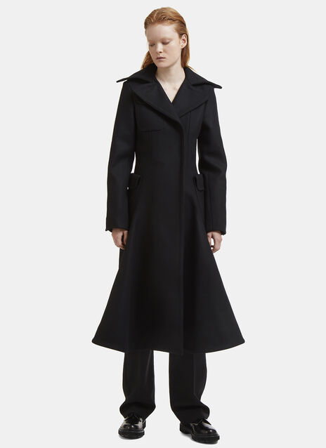 Jacquemus Le Manteau Long Flared Felted Coat