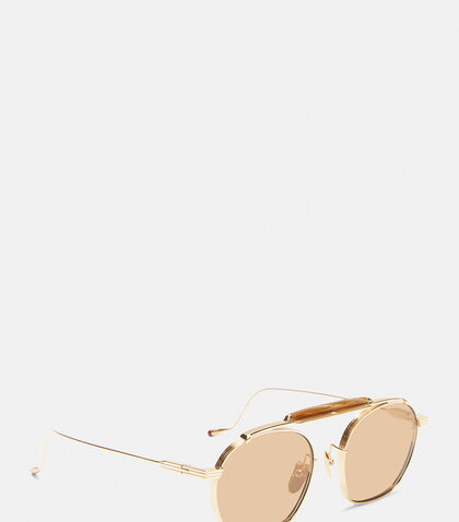 JACQUES MARIE MAGE Victorio Round Frame Sunglasses in Bronze