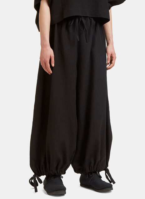 Oversized Cropped Drawstring Pants