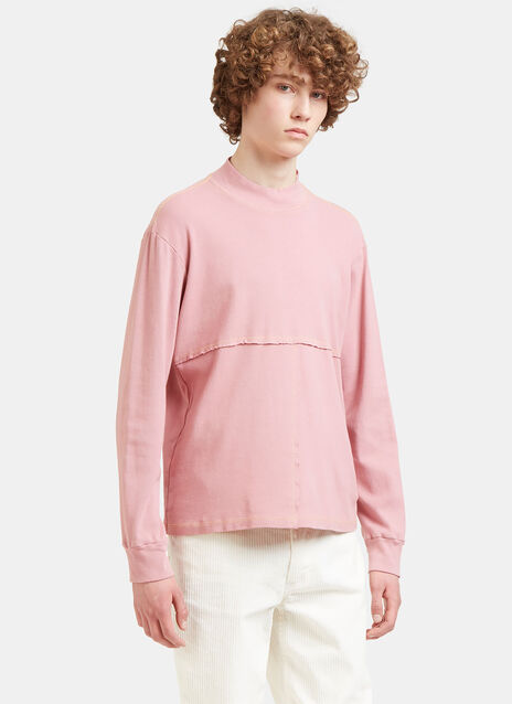 Lapped Stitched Roll Neck Sweater